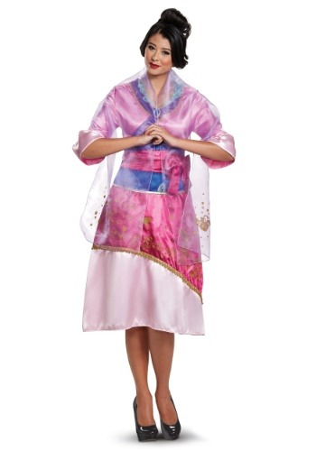 Click Here to buy Disney Mulan Deluxe Womens Costume from HalloweenCostumes, USA Funds & Shipping