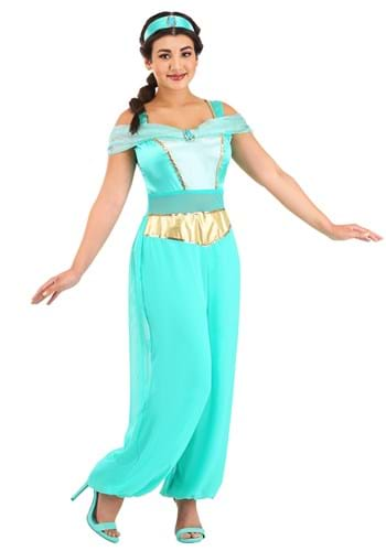Click Here to buy Jasmine Deluxe Adult Costume from HalloweenCostumes, USA Funds & Shipping