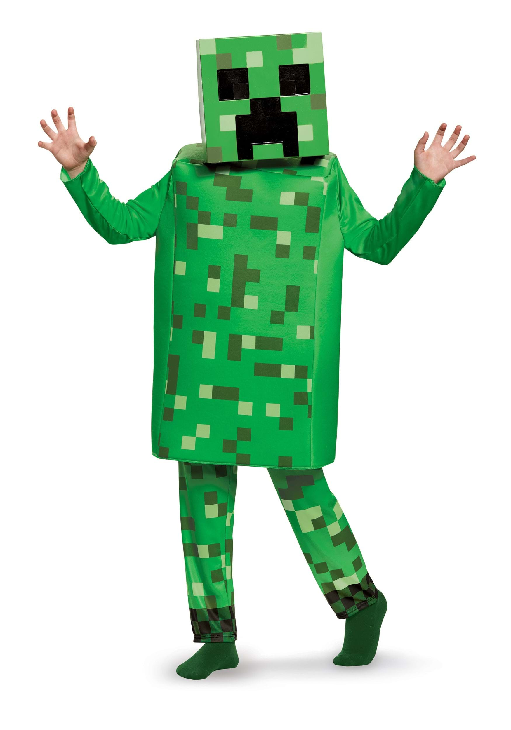 Minecraft Creeper Deluxe Costume Boys  sc 1 st  Halloween Costumes & Minecraft Creeper Deluxe Costume for Kids