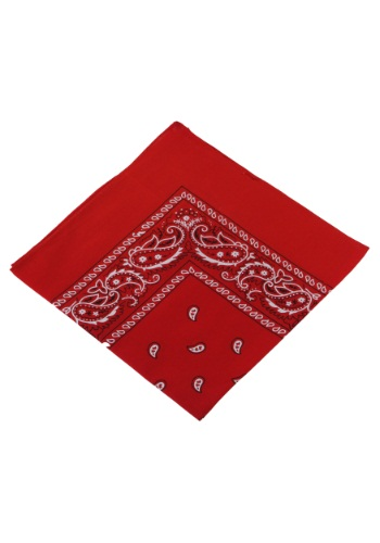 Red Bandana - Western Cowboy Costume Accessory