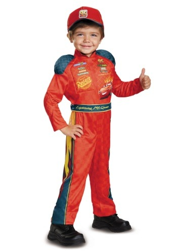 Click Here to buy Lightning McQueen Classic Toddler Costume from Cars from HalloweenCostumes, CDN Funds