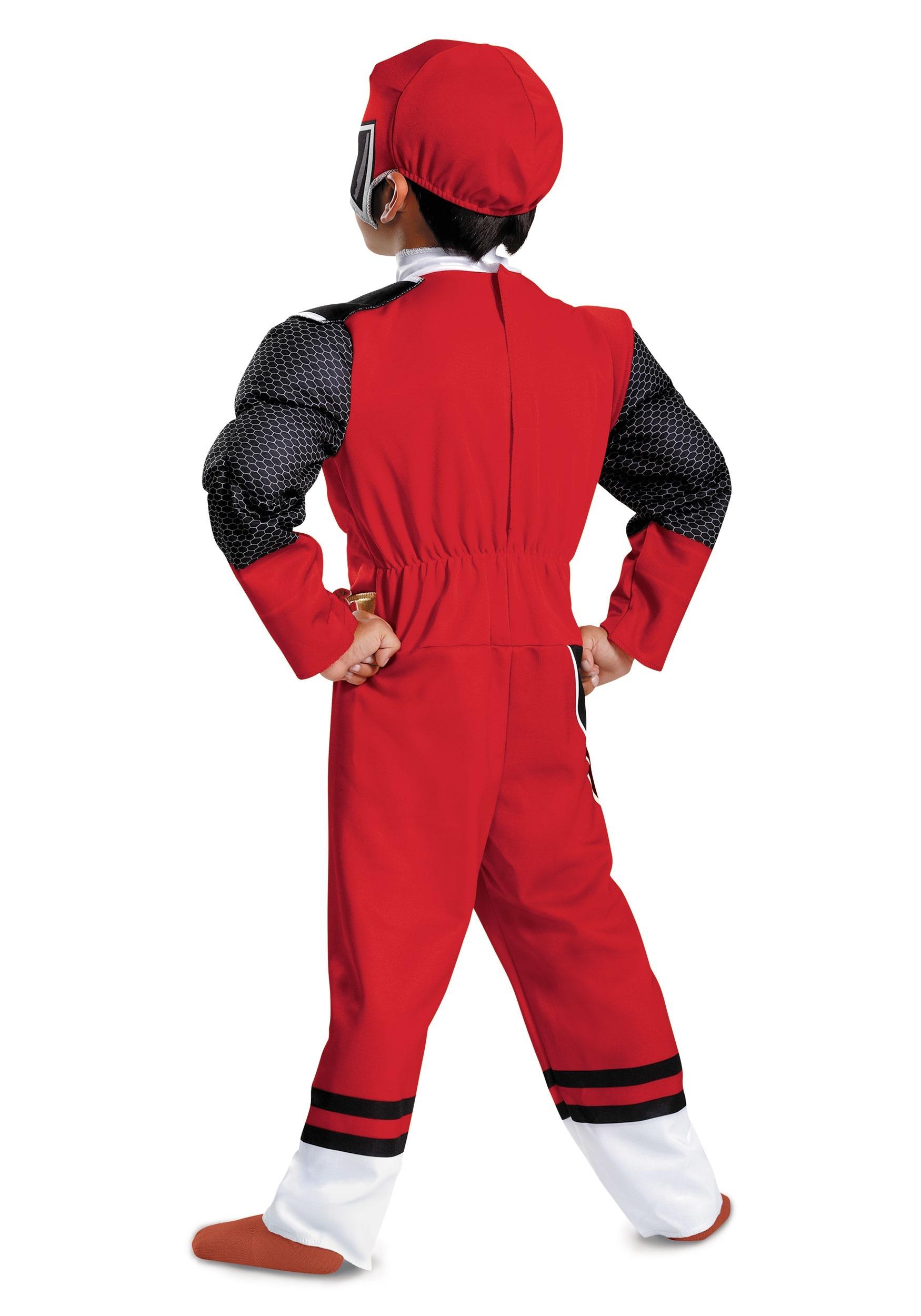 Boys Red Ranger Ninja Steel Toddler Muscle Costume