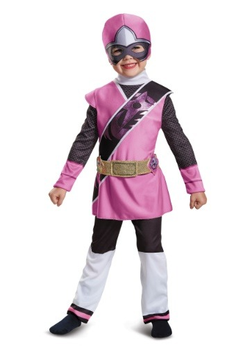 Click Here to buy Power Rangers Ninja Steel Pink Ranger Muscle Costume for Toddlers from HalloweenCostumes, CDN Funds