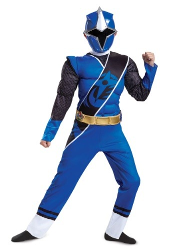 Click Here to buy Power Rangers Ninja Steel Blue Ranger Muscle Boys Costume from HalloweenCostumes, CDN Funds