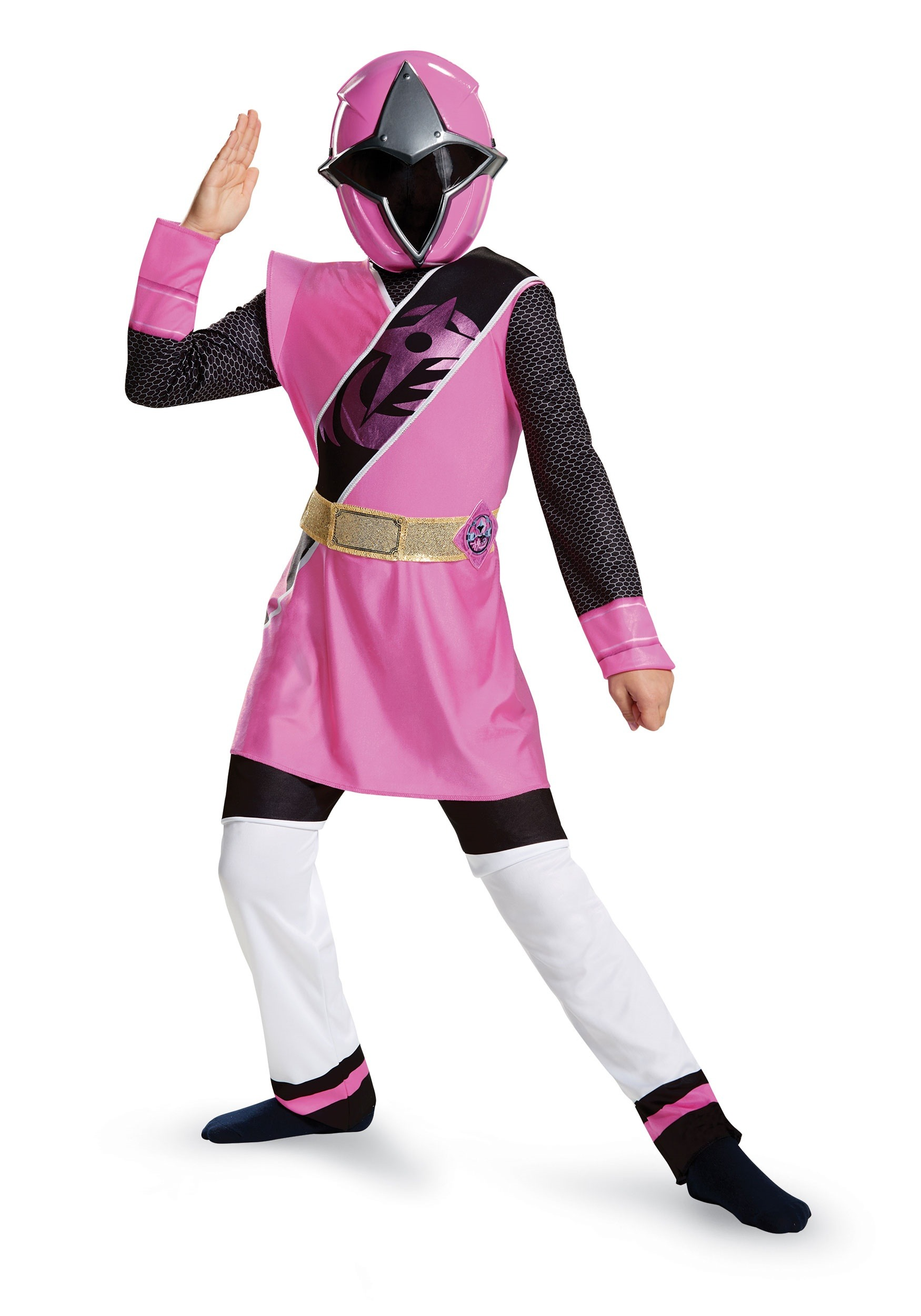 Power Rangers Ninja Steel Pink Ranger Muscle Girls Costume  sc 1 st  Halloween Costumes : pink ranger costume for adults  - Germanpascual.Com