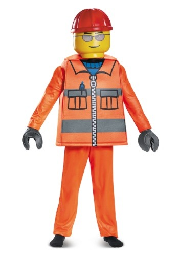 Click Here to buy LEGO Construction Worker Deluxe Boys Costume from HalloweenCostumes, USA Funds & Shipping