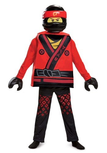 Click Here to buy Ninjago Movie Kai Deluxe Boys Costume from HalloweenCostumes, USA Funds & Shipping