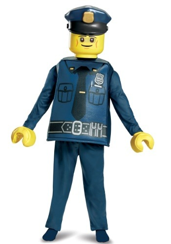 Click Here to buy LEGO Police Officer Deluxe Boys Costume from HalloweenCostumes, USA Funds & Shipping