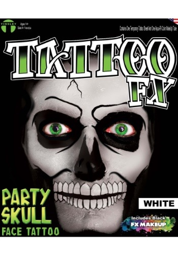 White Party Skull Tattoo Kit
