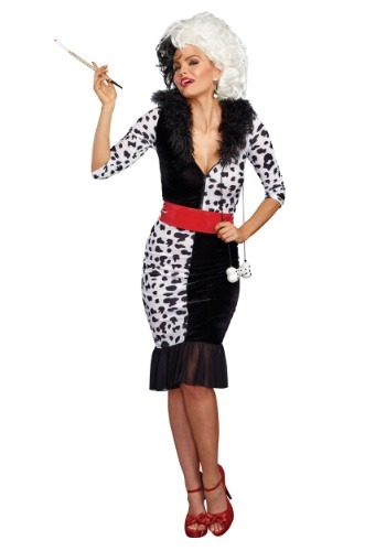 Click Here to buy Dalmatian Diva Womens Costume from HalloweenCostumes, CDN Funds