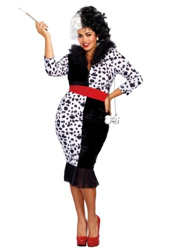 Click Here to buy Dalmatian Diva Womans Plus Size Costume from HalloweenCostumes, CDN Funds