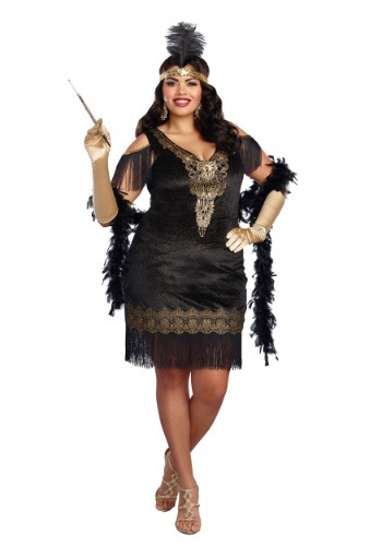 Plus Size Women's Swanky Flapper Costume