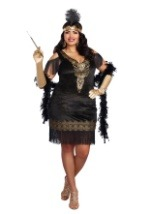 Plus Size Swanky Flapper Costume