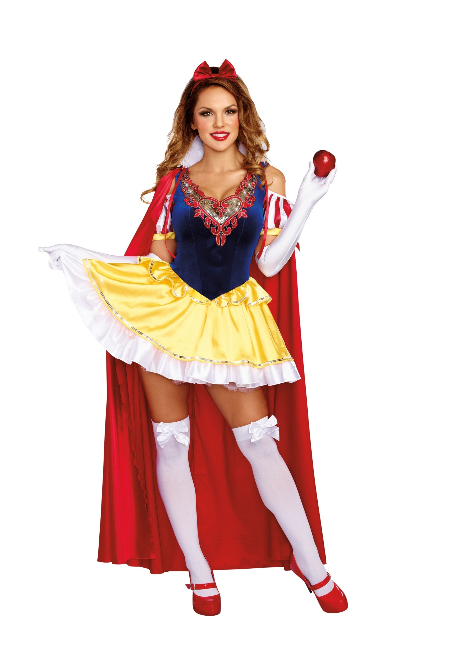 WOMENS SASSY SNOW WHITE COSTUME