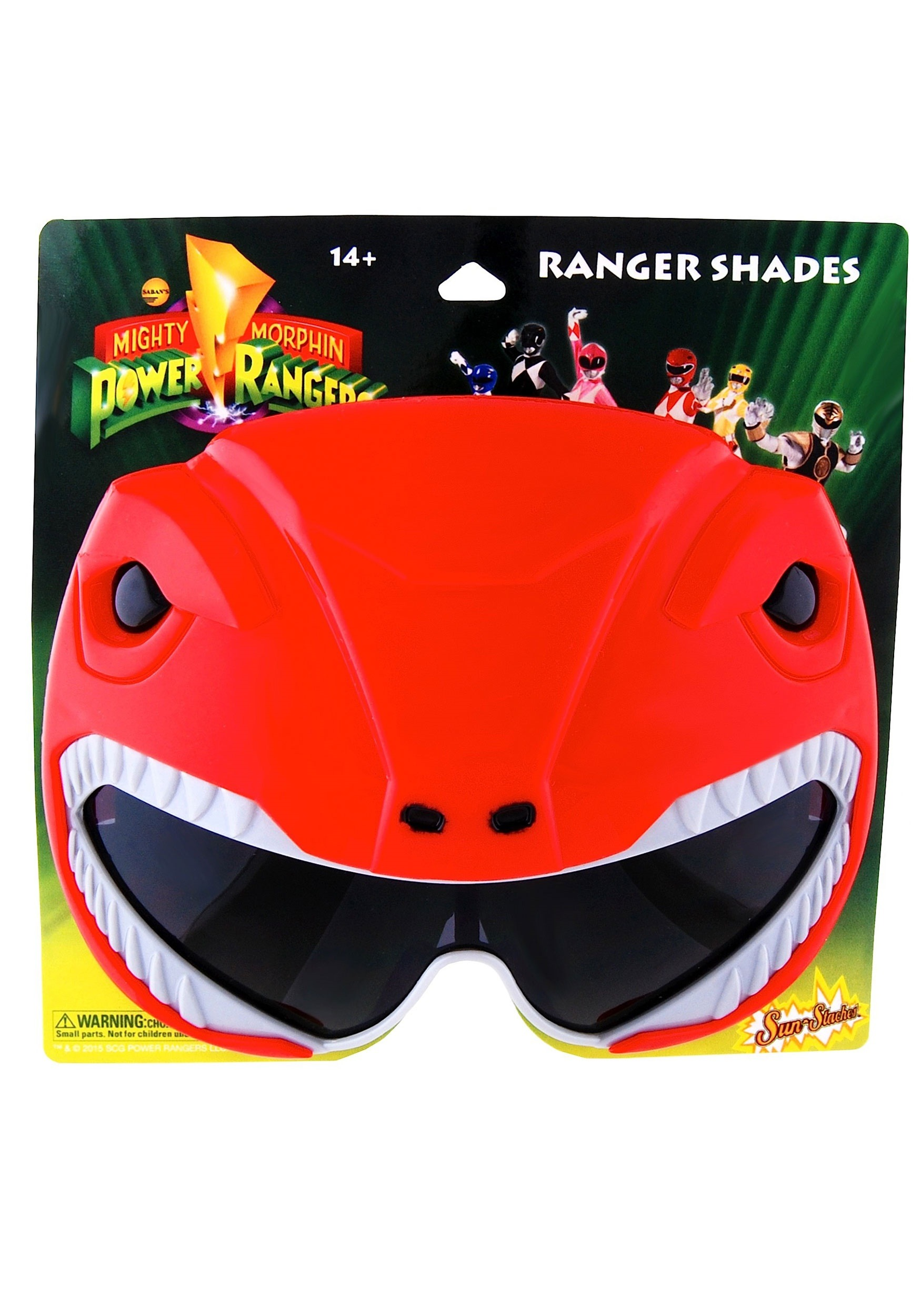 Red Power Rangers Sunglasses for Adults HWSG2341