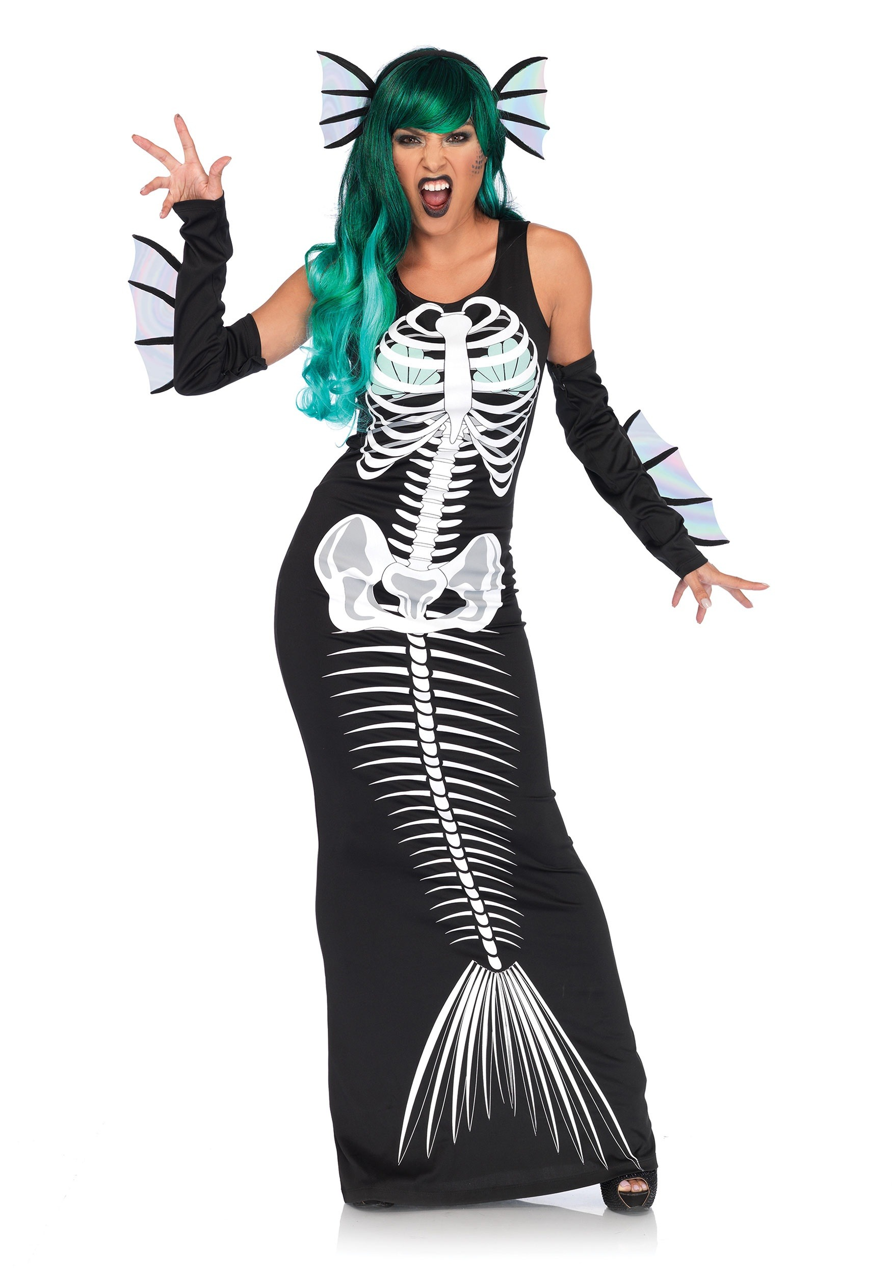women 39 s skeleton siren costume. Black Bedroom Furniture Sets. Home Design Ideas