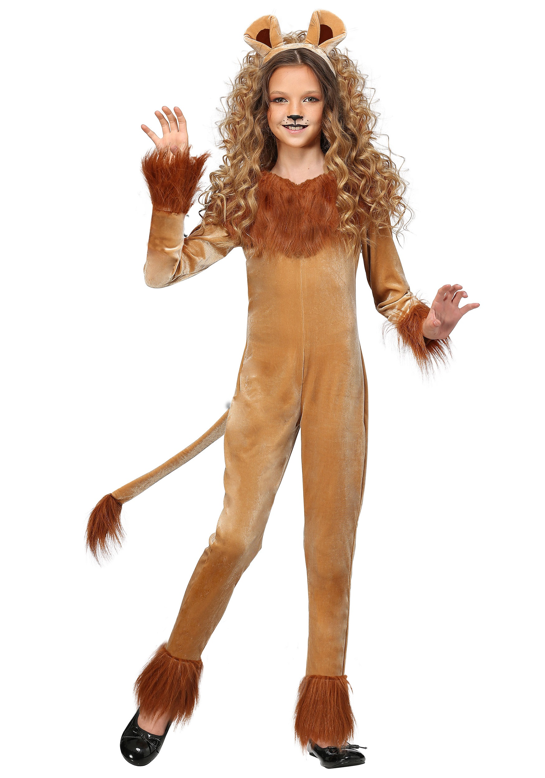 Fierce Lion Girl's Costume