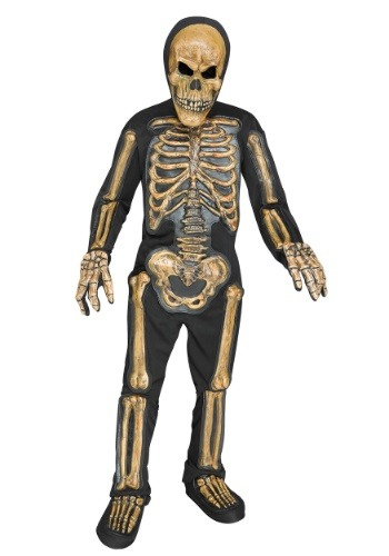 Click Here to buy Relistic Skele-bones Boys Costume from HalloweenCostumes, USA Funds & Shipping