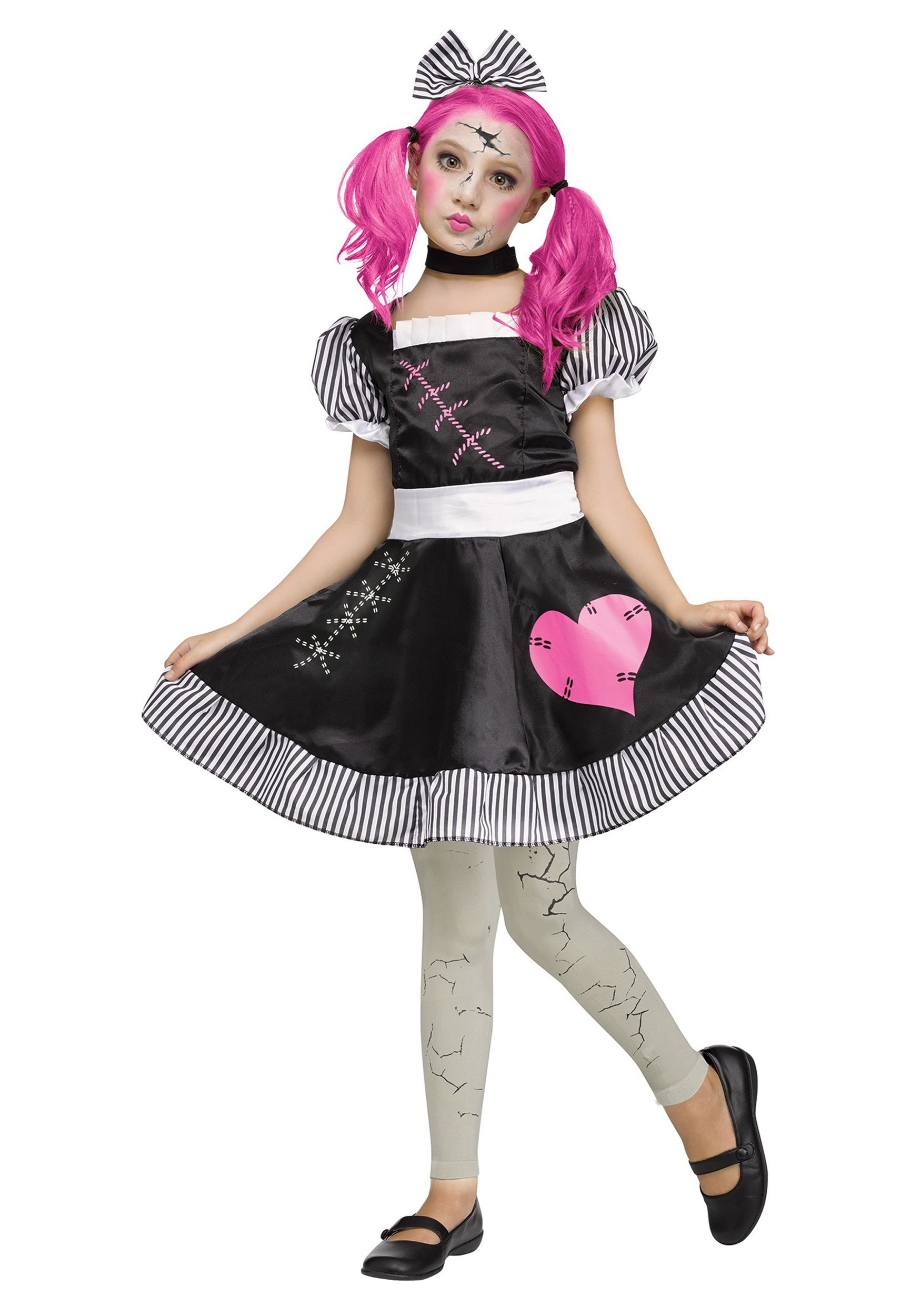 broken doll costume for girls