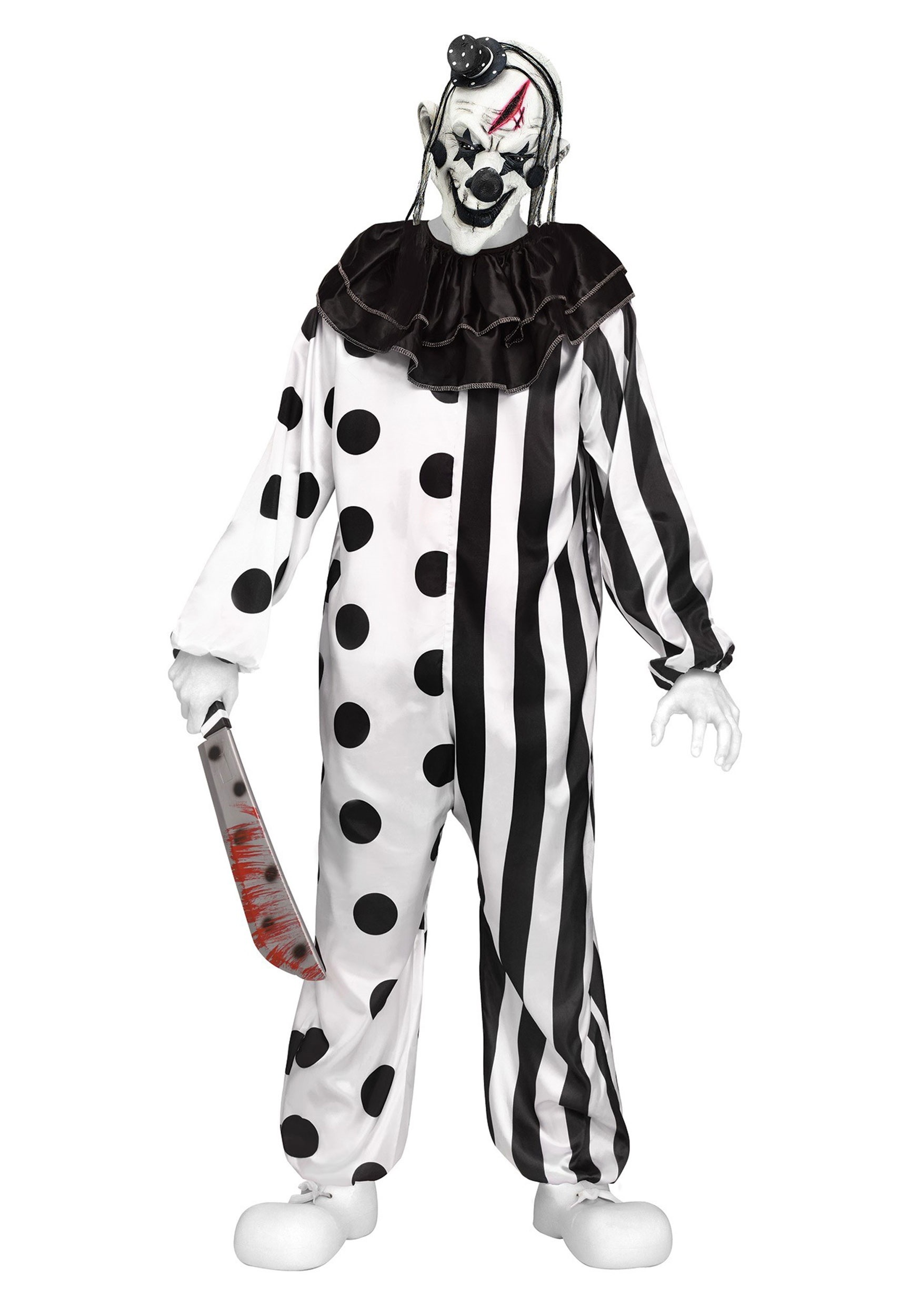 Killer Clown Halloween Costumes For Girls.Teen Killer Clown Costume