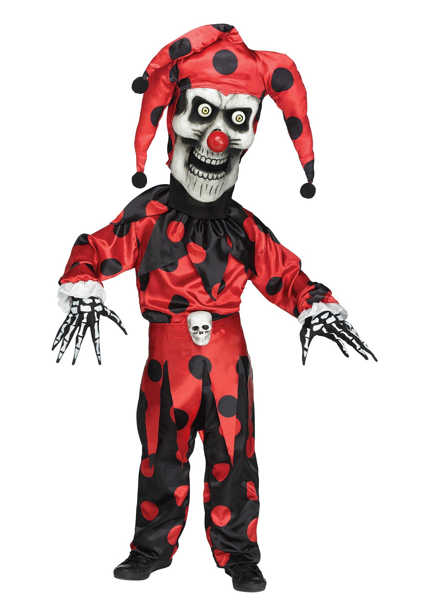 Jester costumes halloweencostumes boys evil bobble head jester costume solutioingenieria Image collections