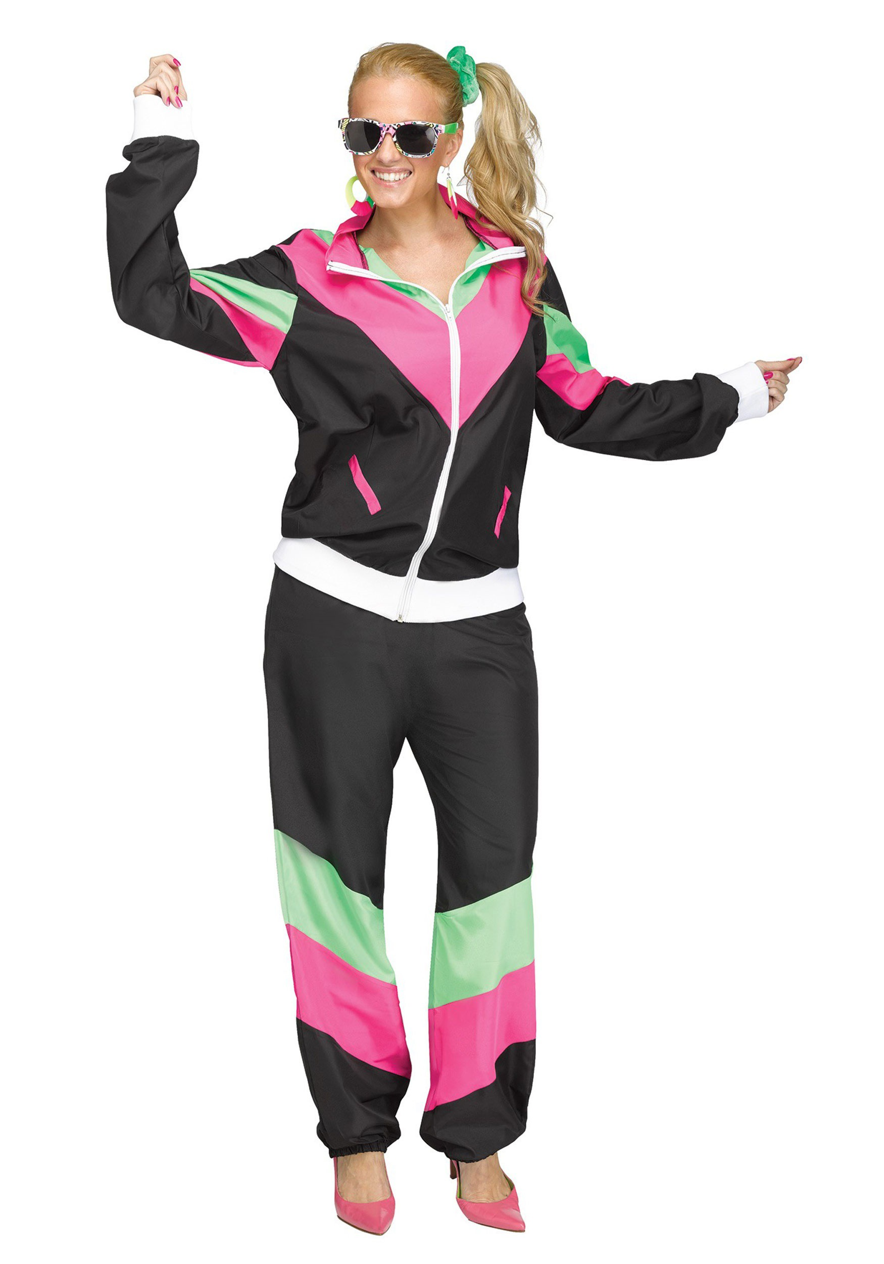 Brand New 80s Male Track Suit Plus Size Costume