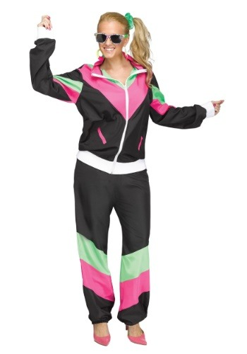 80's Track Suit Plus Size Costume for Women FU125635-1X