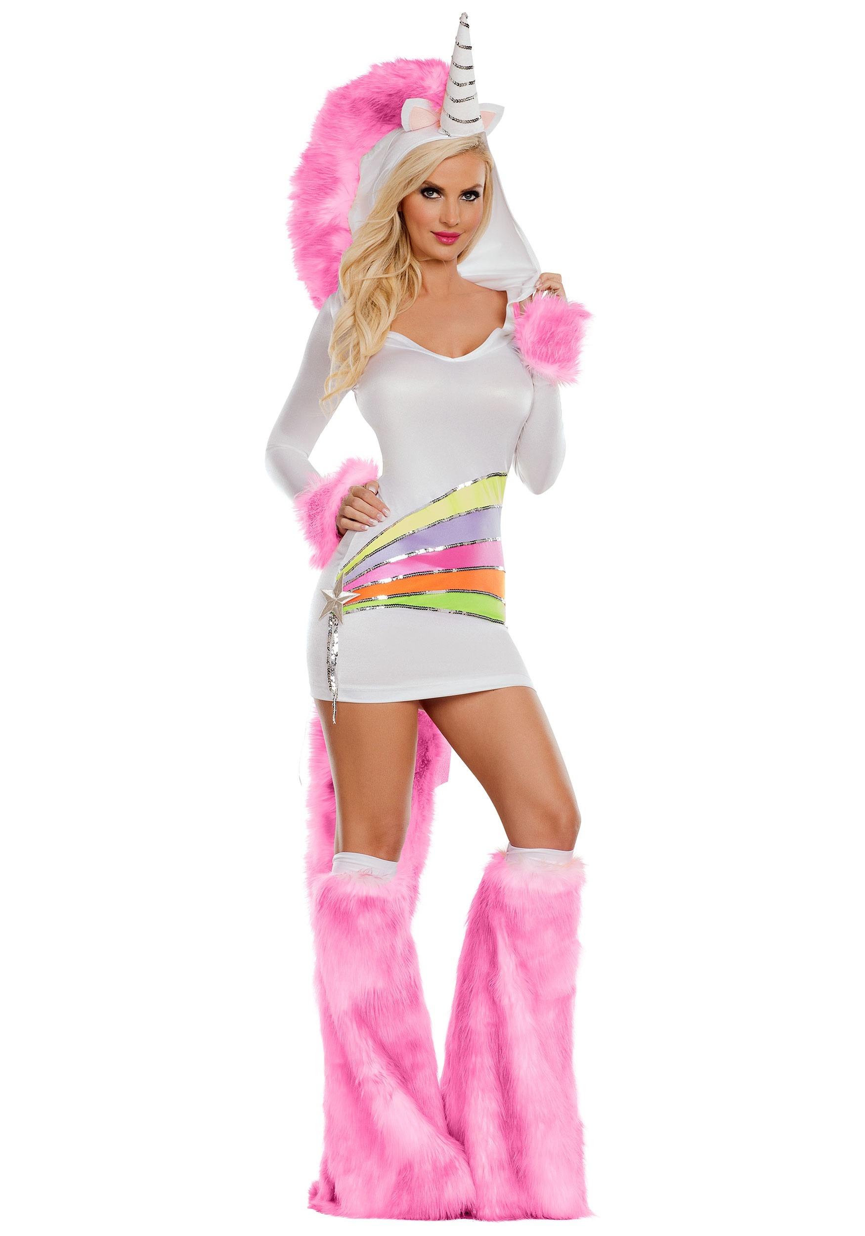womens rainbow unicorn costume