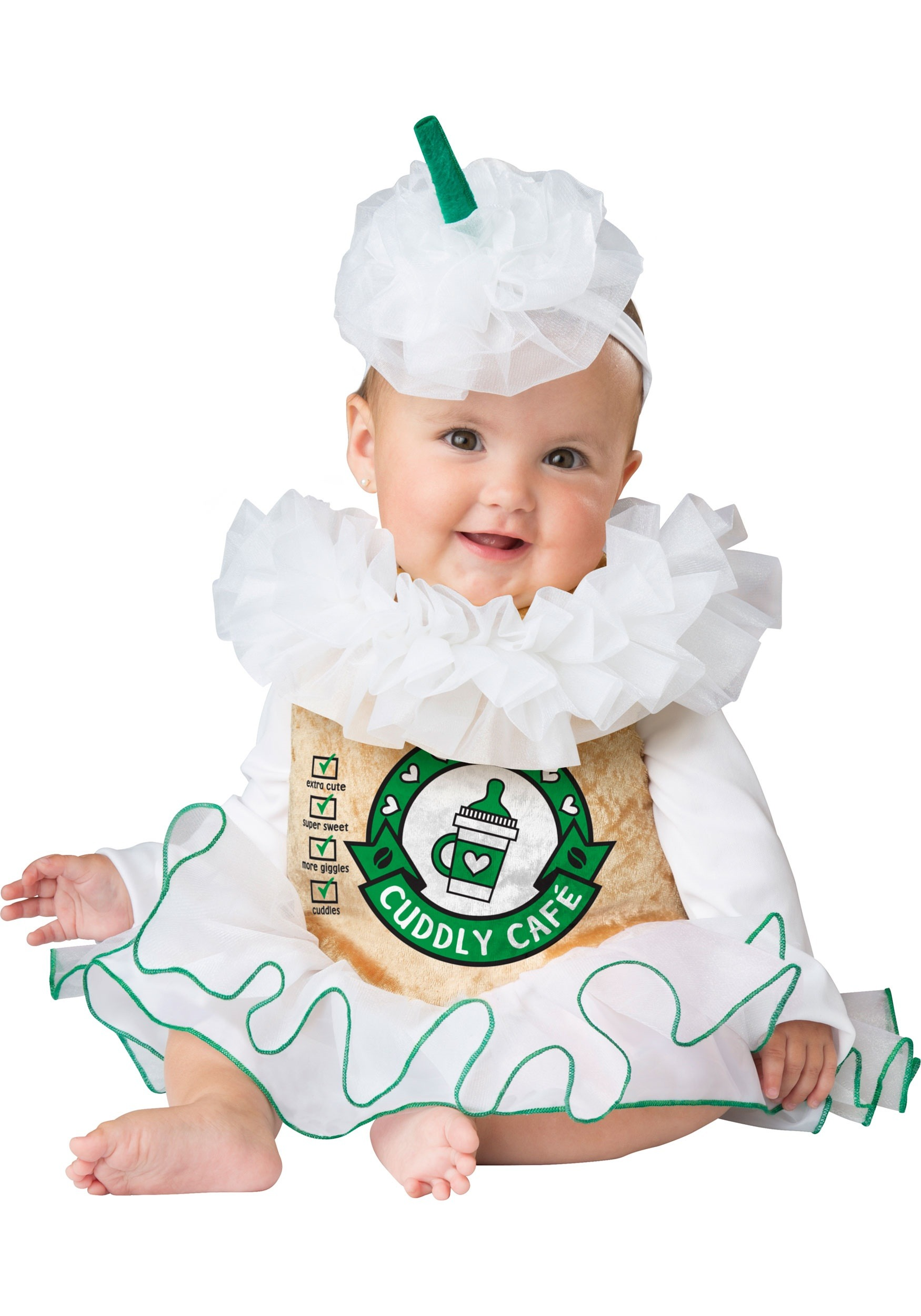 Cuddly Cappuccino Costume For Infants-4833