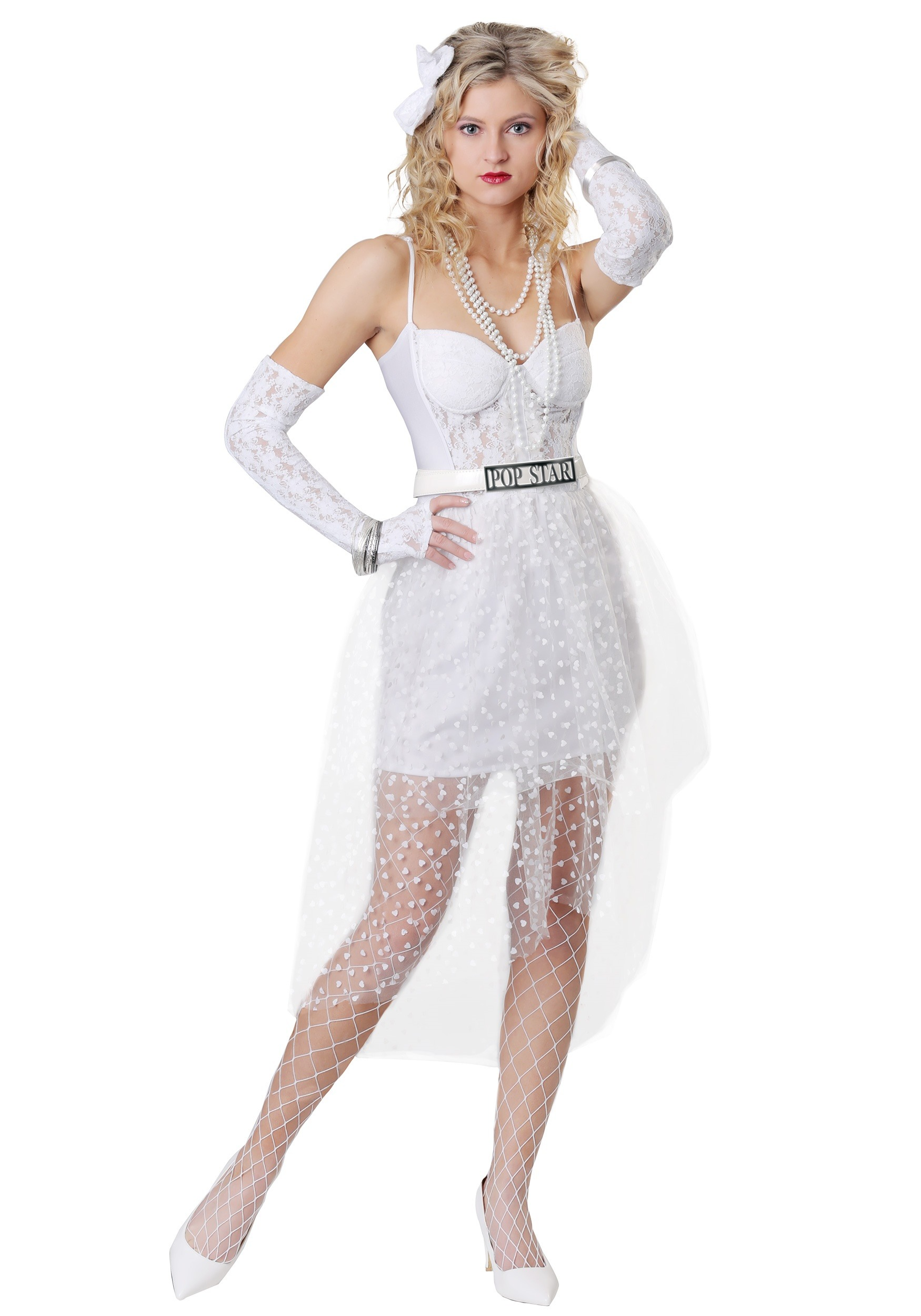 Large Small XS 80s Madonna Costume- White Like a Virgin Bride Costume Outfit- High Quality Corset n Pettiskirt- Plus Size Medium XL 2X