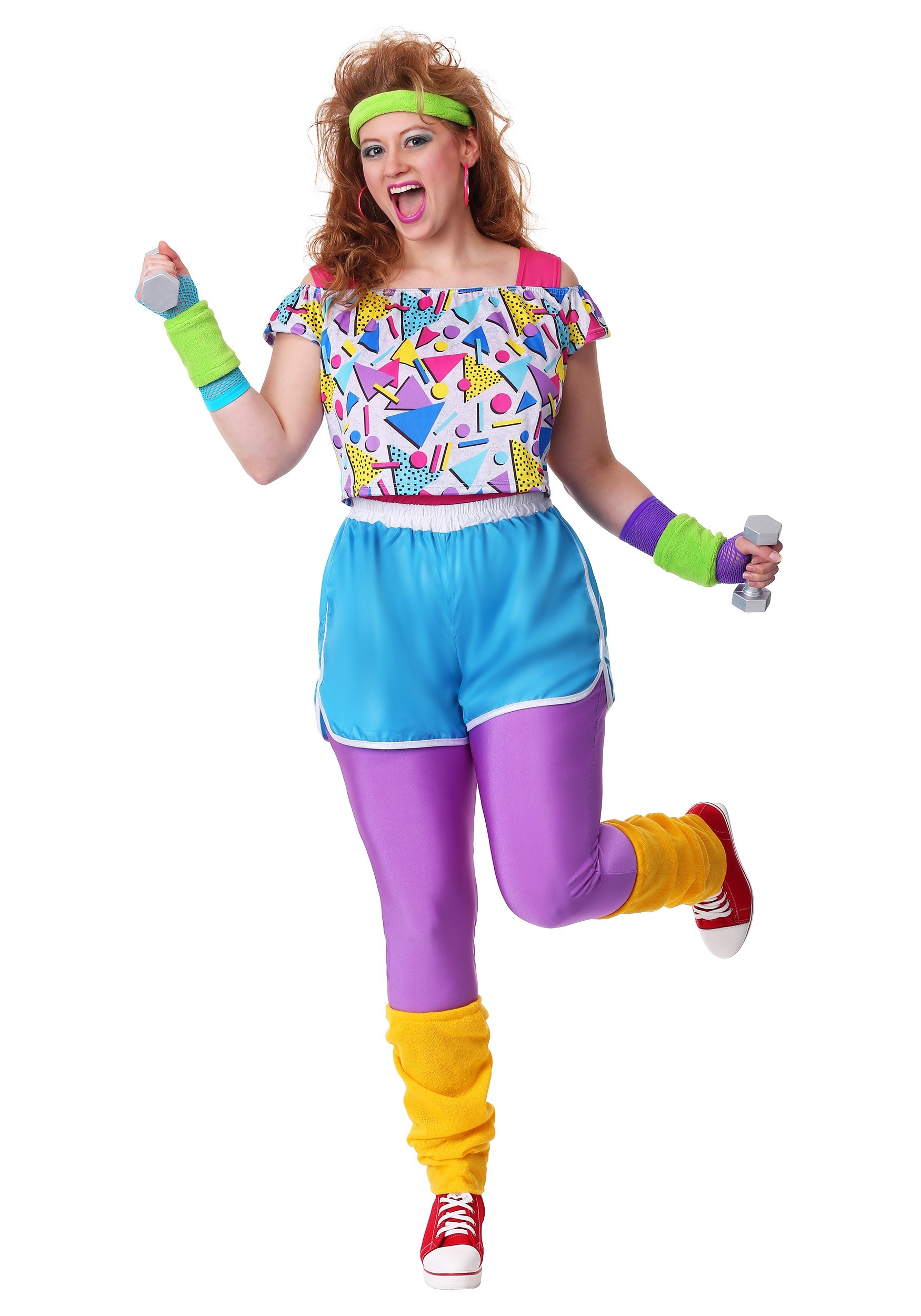 80s Fashion Trends 35 Iconic Looks From The Eighties: Work It Out 80s Women's Plus Size Costume