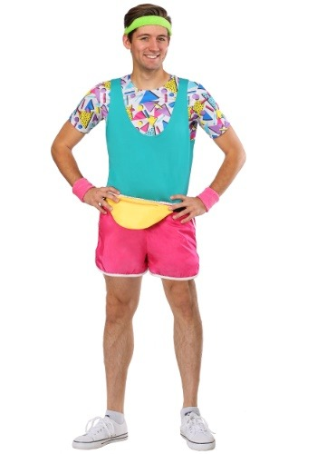 Mens Work It Out 80s Costume