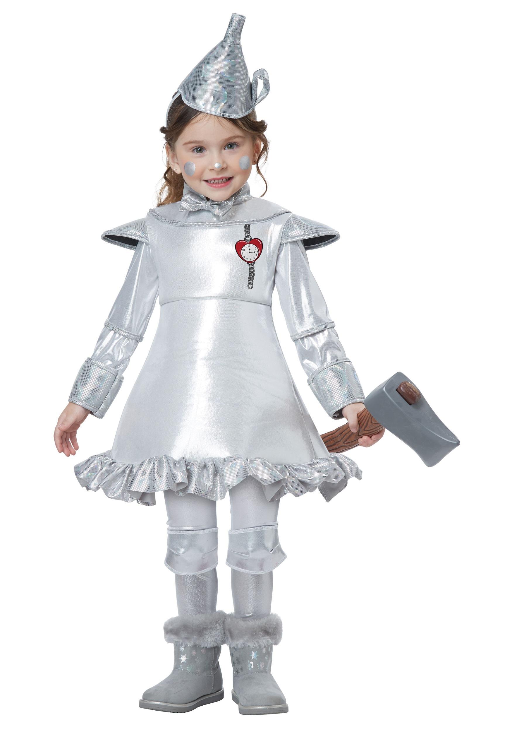 Tin Man Costume For Toddler Girls-4545