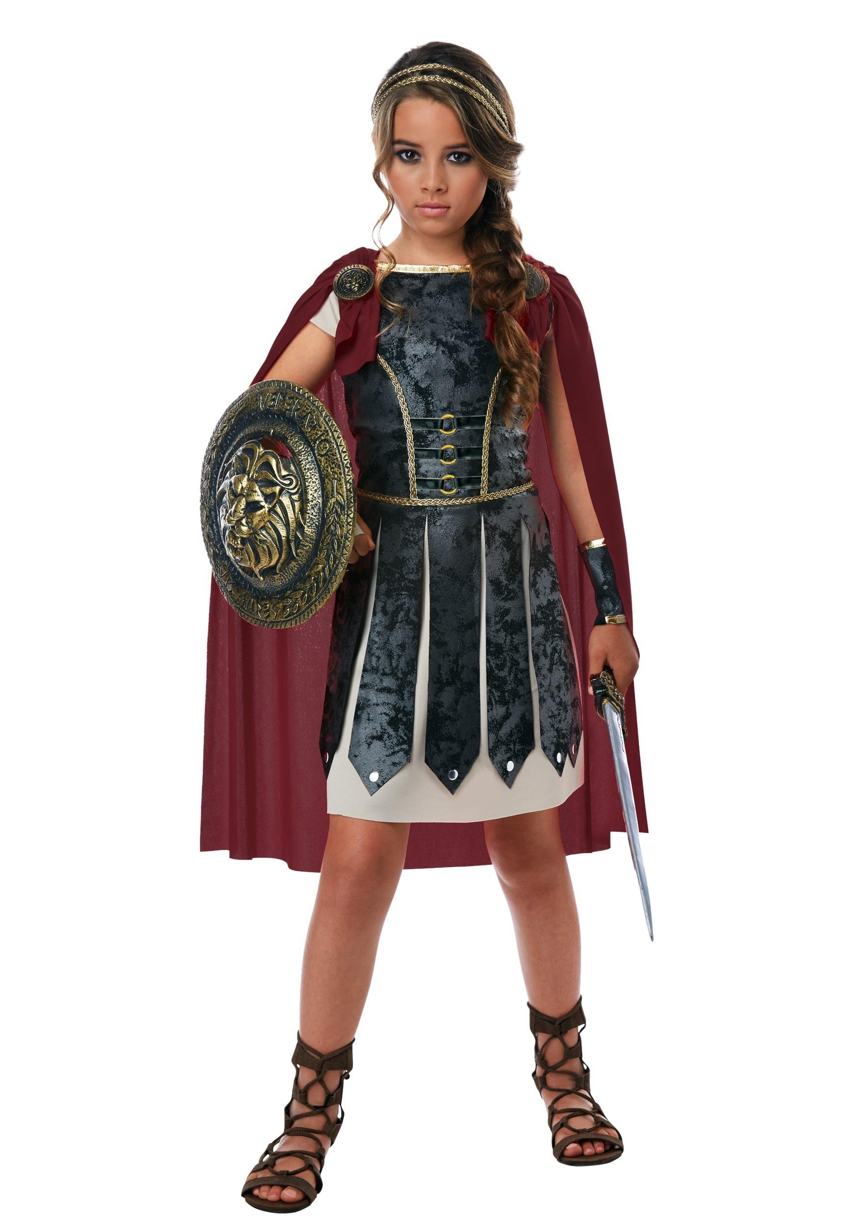 Fearless Gladiator Girls Costume-update1  sc 1 st  Halloween Costumes & Fearless Gladiator Costume for Girls