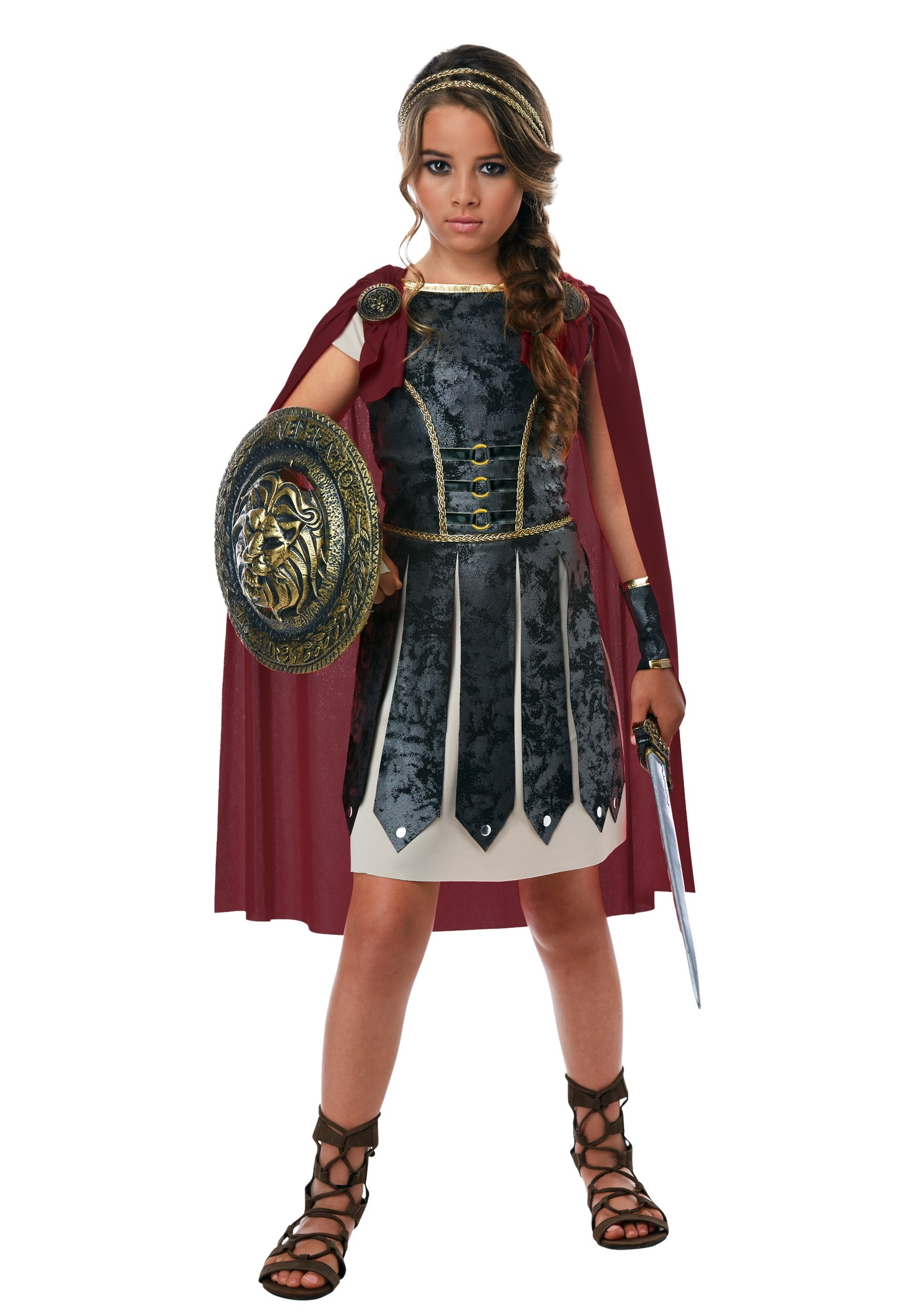 Roman warriors greek goddess costumes halloweencostumes fearless gladiator girls costume solutioingenieria Image collections