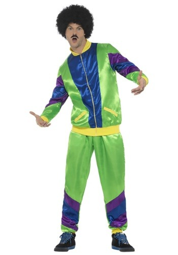 80s Tracksuit Mens Costume