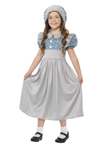 Victorian Era Child School Girl Costume