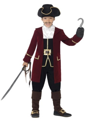 Click Here to buy Deluxe Captain Hook Boys Costume from HalloweenCostumes, USA Funds & Shipping