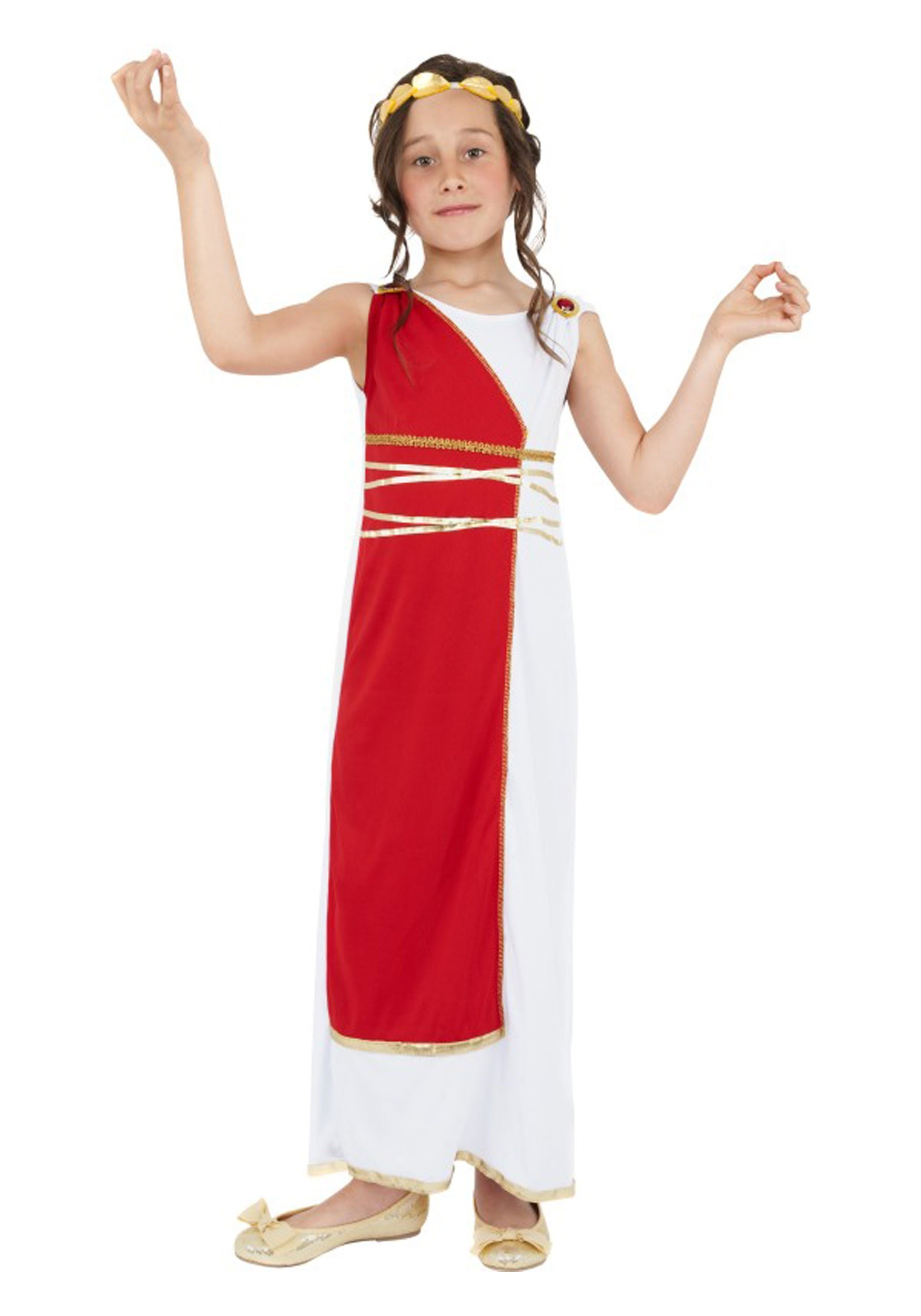 Roman Girls Costume  sc 1 st  Halloween Costumes & Girls Roman Costume