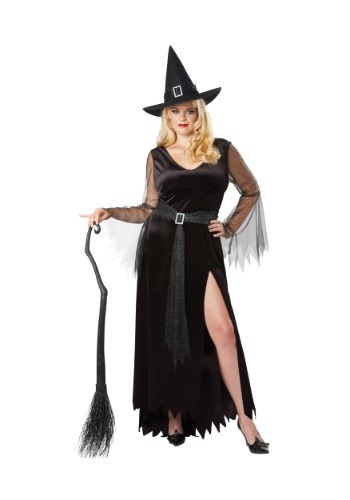 Click Here to buy Rich Witch Plus Size Womens Costume from HalloweenCostumes, USA Funds & Shipping