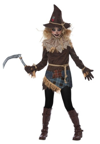 Click Here to buy Creepy Scarecrow Girls Costume from HalloweenCostumes, CDN Funds