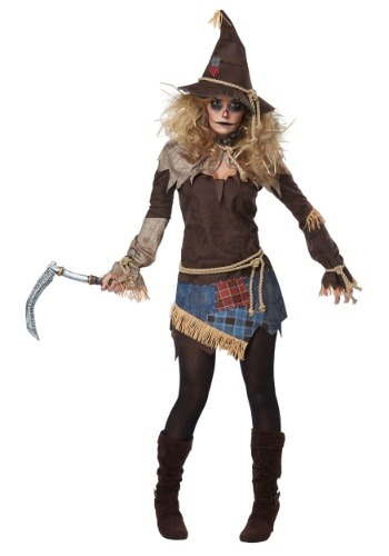 Click Here to buy Creepy Scarecrow Womens Costume from HalloweenCostumes, CDN Funds