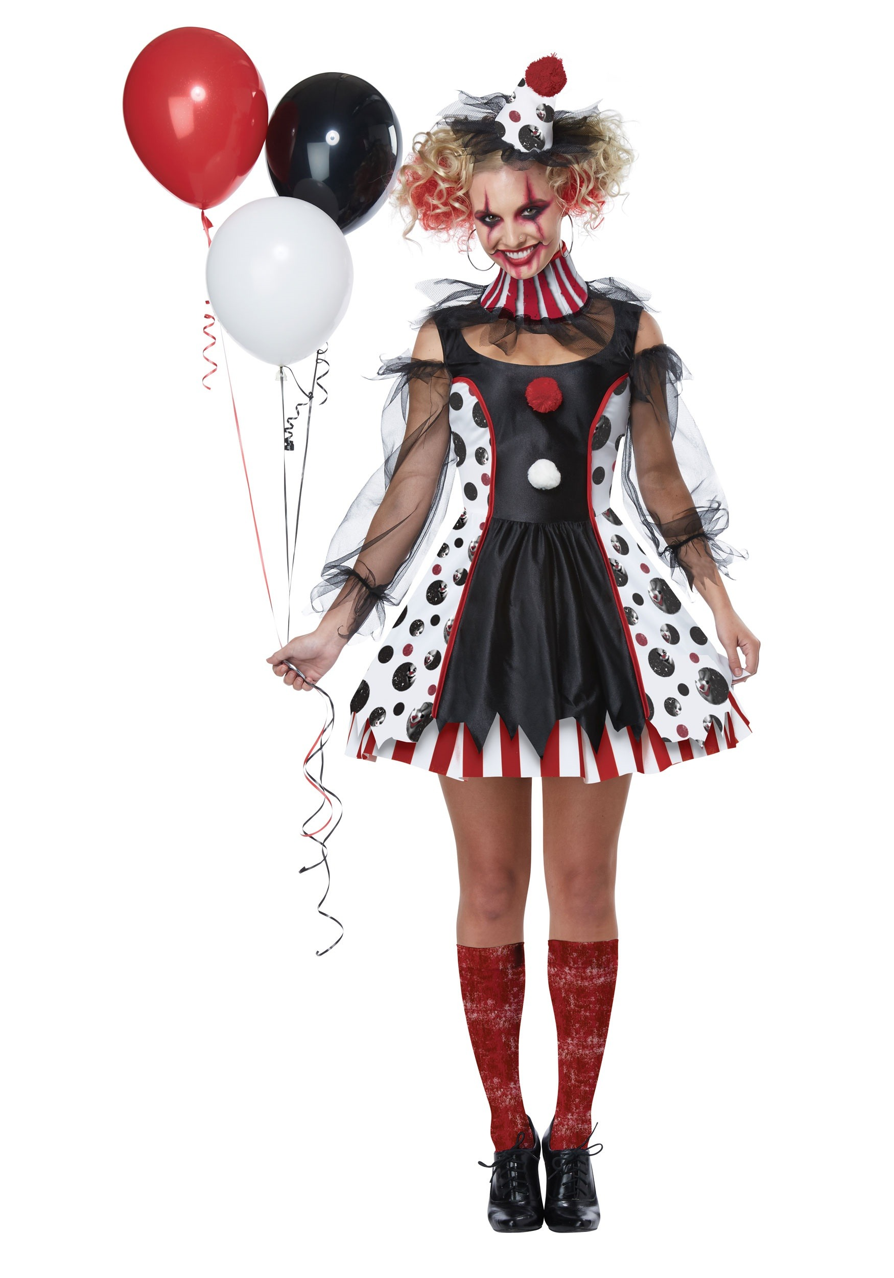 creepy clown costume for women. Black Bedroom Furniture Sets. Home Design Ideas