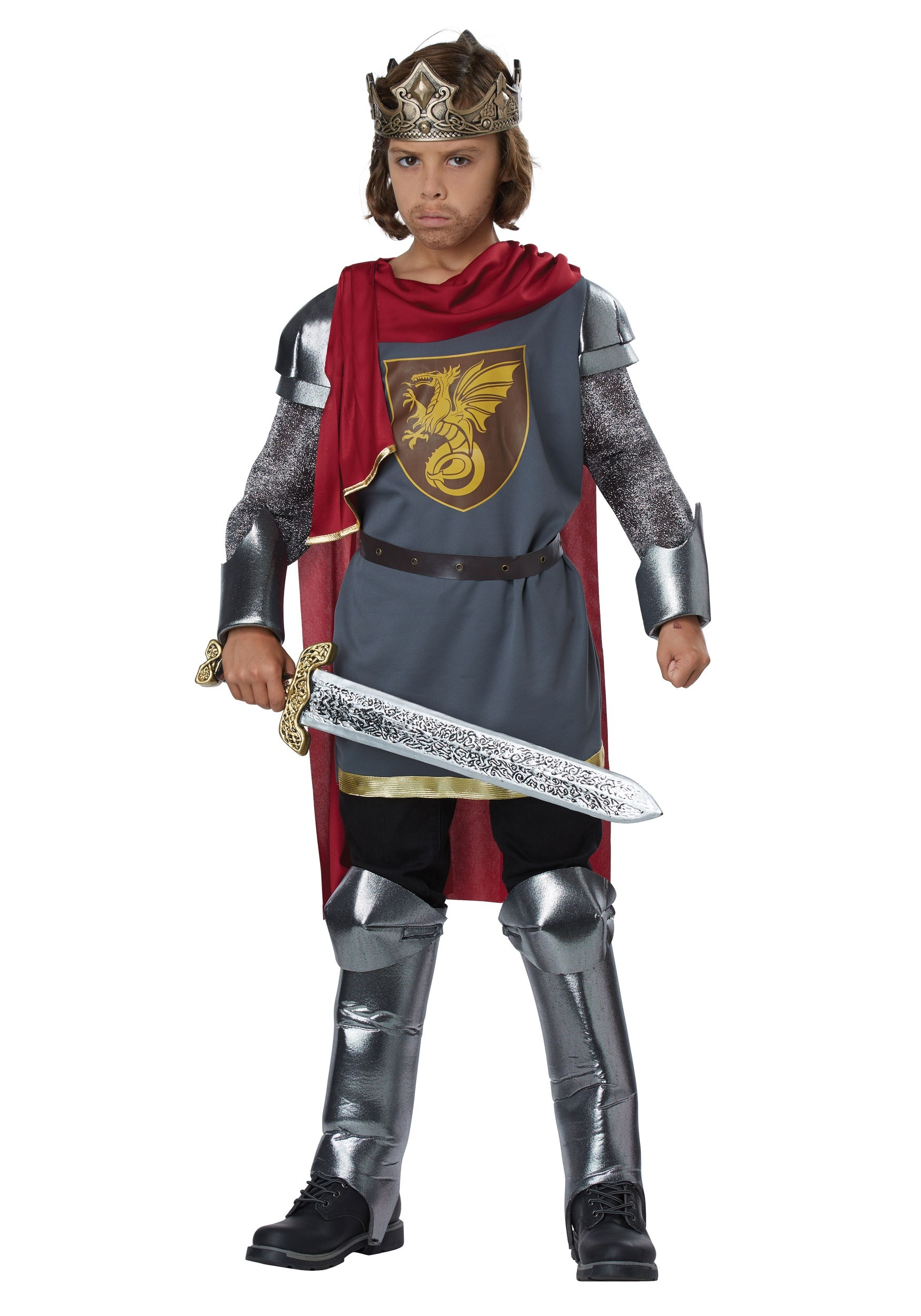 Boys King Arthur Costume  sc 1 st  Halloween Costumes : king costume for adults  - Germanpascual.Com