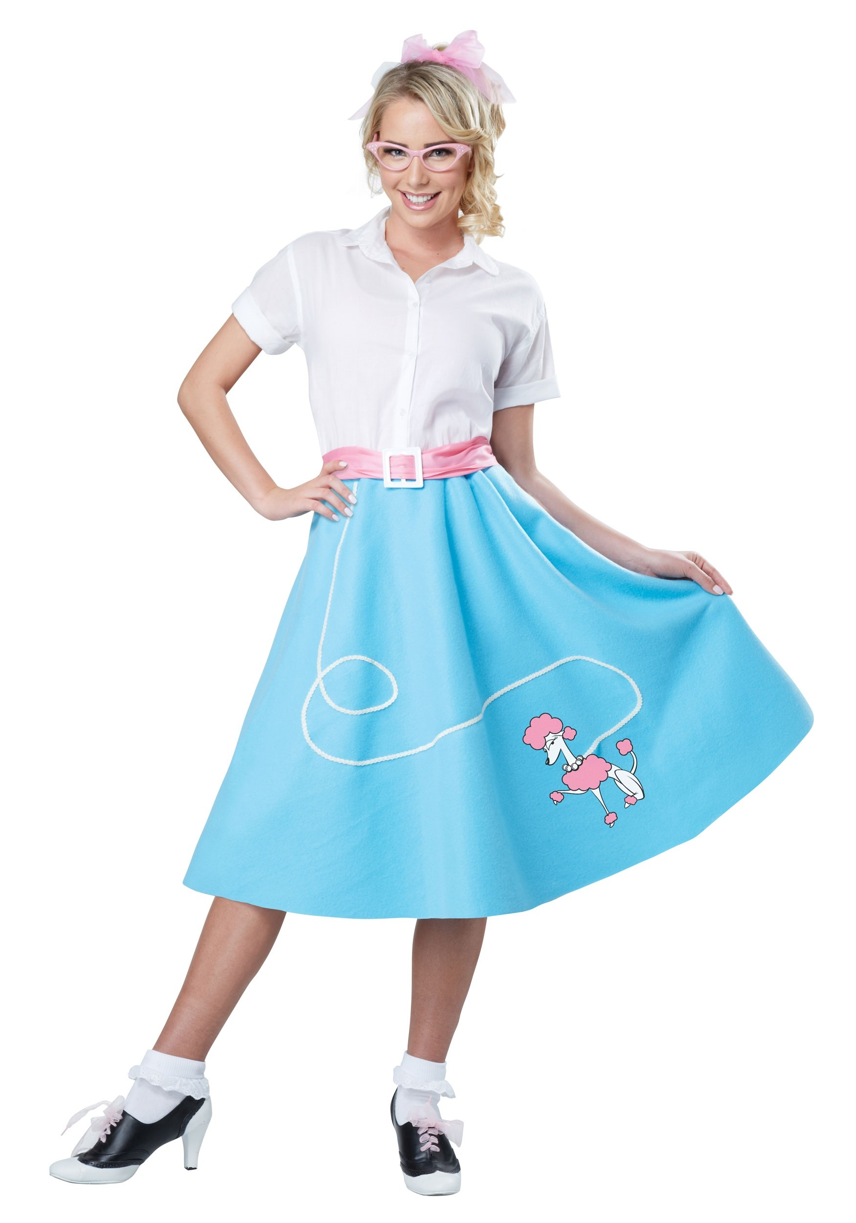 Blue 50 39 S Poodle Skirt For Women
