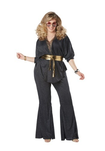 Click Here to buy Disco Dazzler Plus Size Womens Costume 1X 2X 3X from HalloweenCostumes, CDN Funds