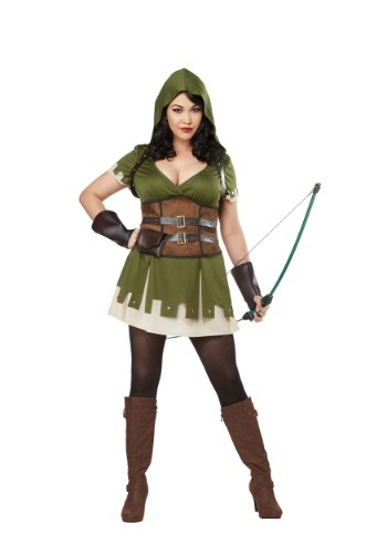 Click Here to buy Lady Robin Hood Plus Size Womens Costume from HalloweenCostumes, CDN Funds