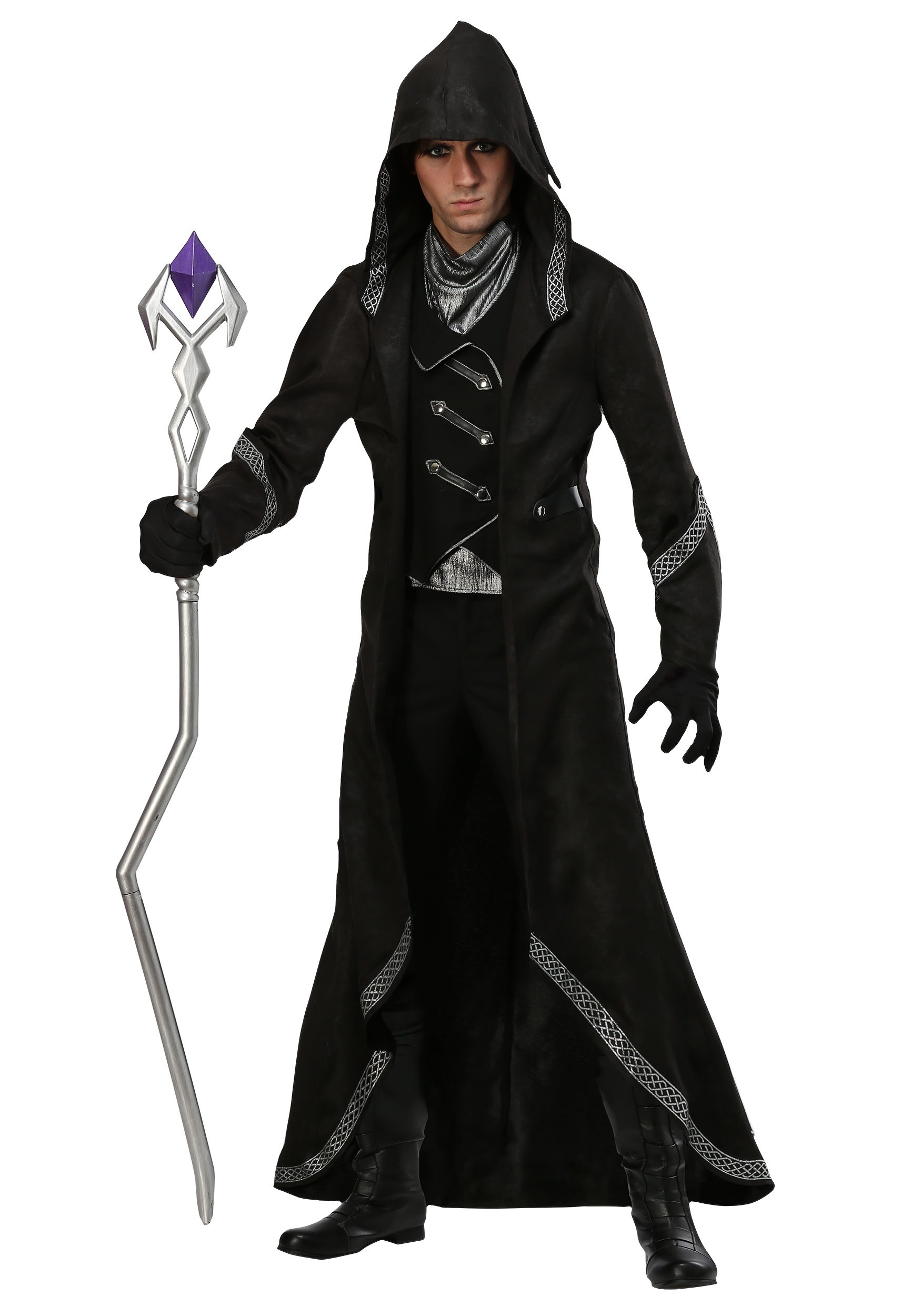 Menu0027s Modern Warlock Costume  sc 1 st  Halloween Costumes : halloween costumes man  - Germanpascual.Com