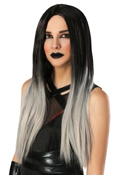 Women's Black and Grey Ombre Wig