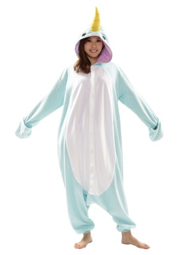 Click Here to buy Narwhal Adult Kigurumi from HalloweenCostumes, USA Funds & Shipping